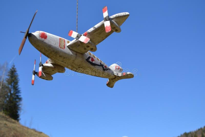Houten modelvliegtuig royalty-vrije stock fotografie