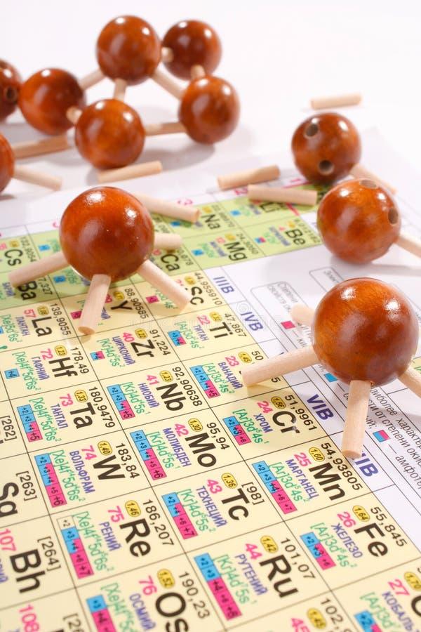 Houten molecule stock foto