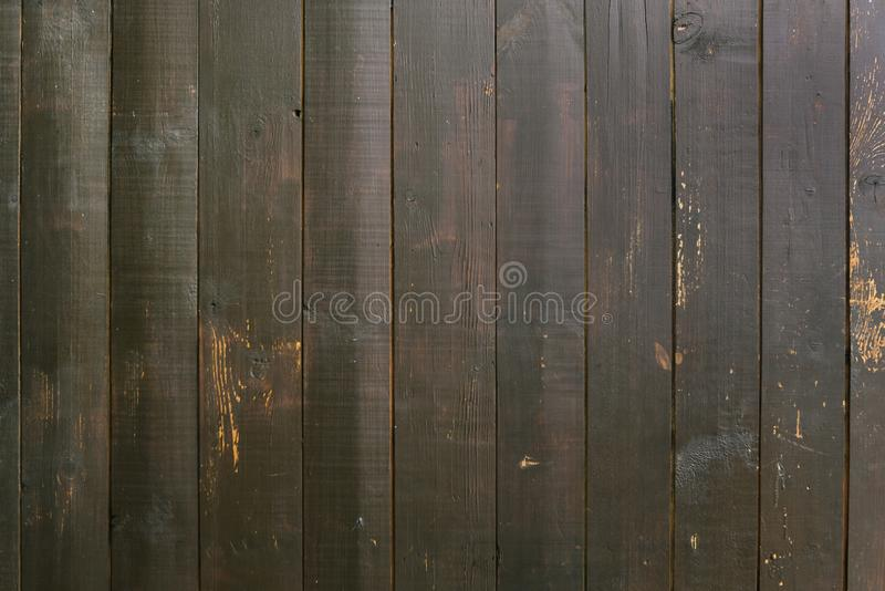 Houten muur Bruine raad Bruine houten textuur Abstracte achtergrond voor ontwerp Verticale raad retro wijnoogst royalty-vrije stock fotografie