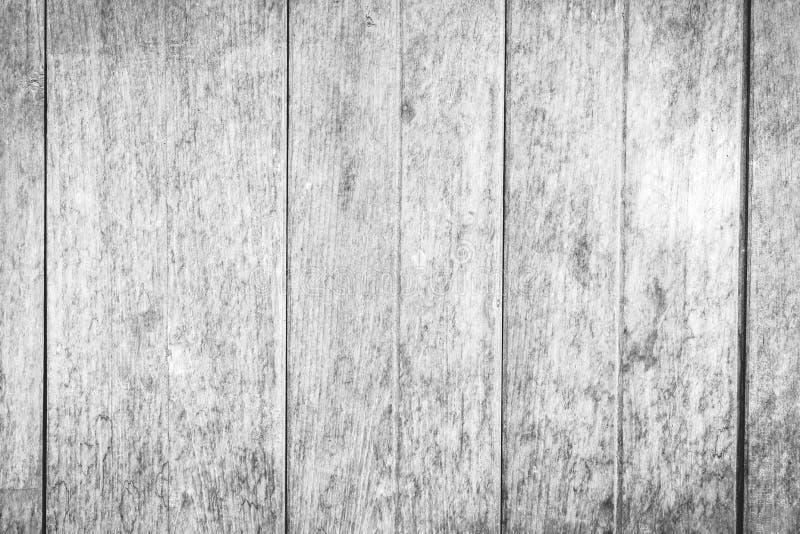 Houten muurtextuur op zwart-witte rustieke achtergrond stock afbeelding
