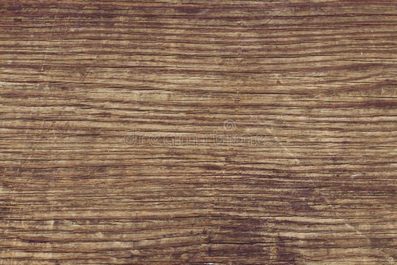 Houten muurtextuur Oude vuile gekraste houten lijst Uitstekende sjofele bruine raad Houten plankachtergrond Bruin plankhout rusti royalty-vrije stock foto