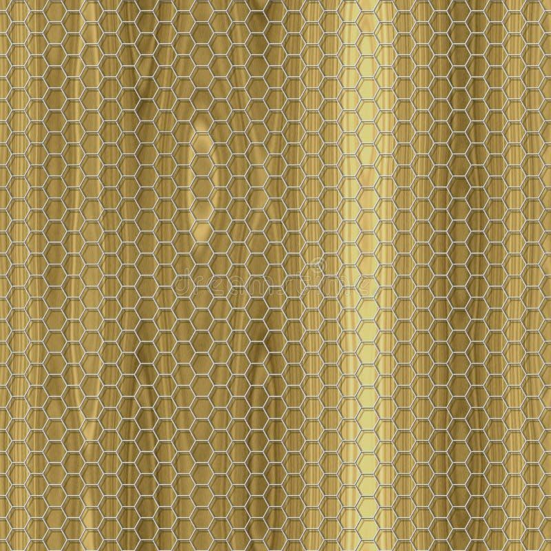 Houten naadloze geproduceerde de hurentextuur van het draadnetwerk stock illustratie