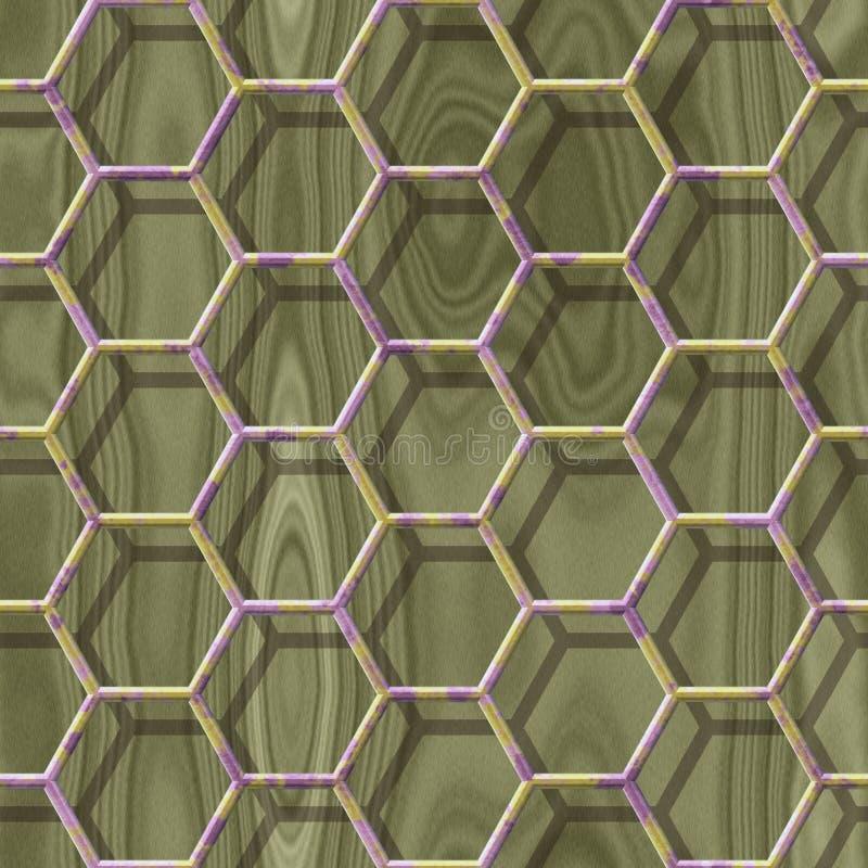 Houten naadloze geproduceerde de hurentextuur van het draadnetwerk vector illustratie