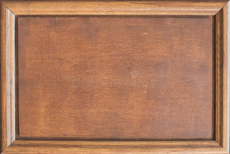 Houten naambord met een kader Plaats voor tekst royalty-vrije stock foto