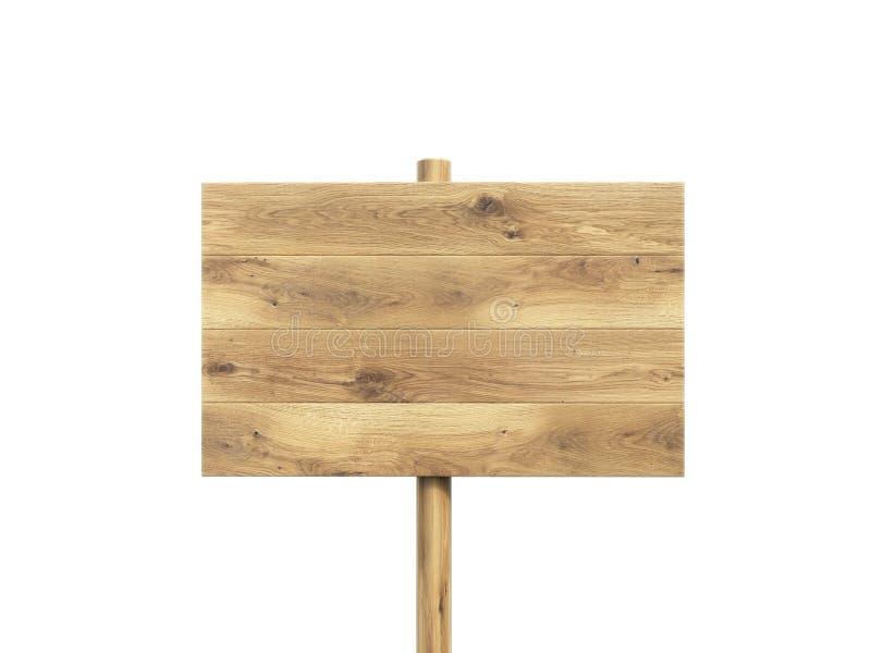 Houten nameboard stock illustratie