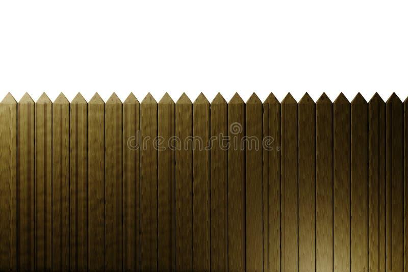 Houten omheining stock illustratie