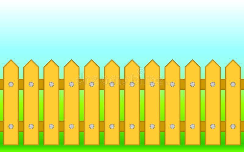 Houten omheining. vector illustratie