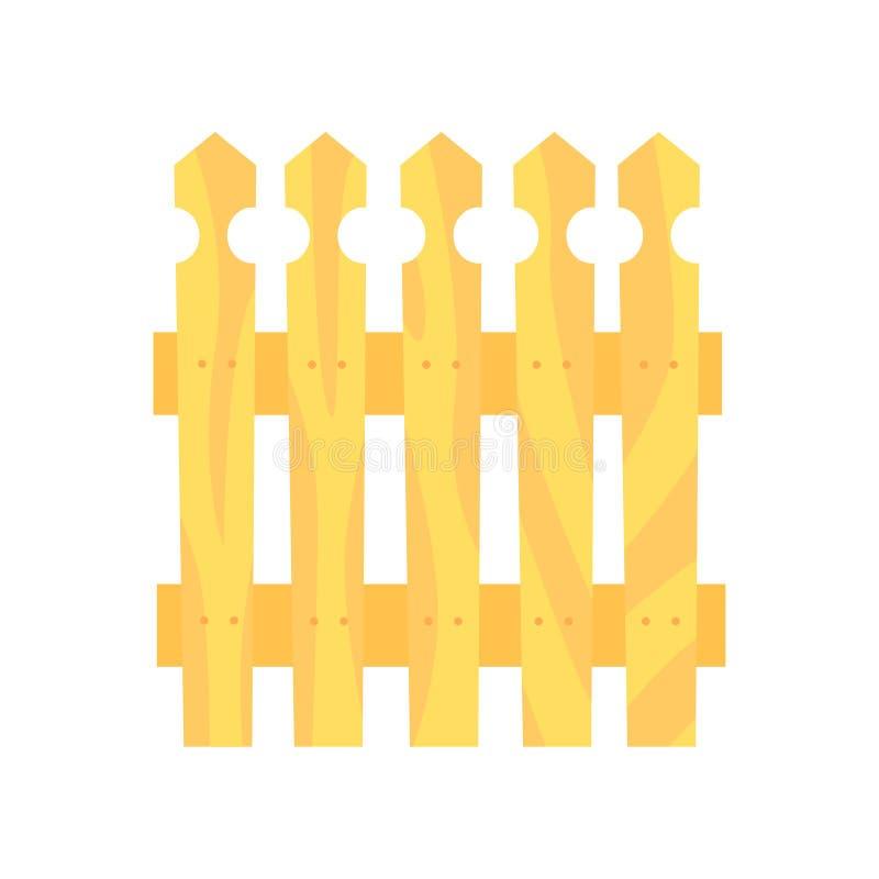 Houten omheining, grens voor landbouwbedrijf of buitenhuis, beeldverhaal vectorillustratie vector illustratie