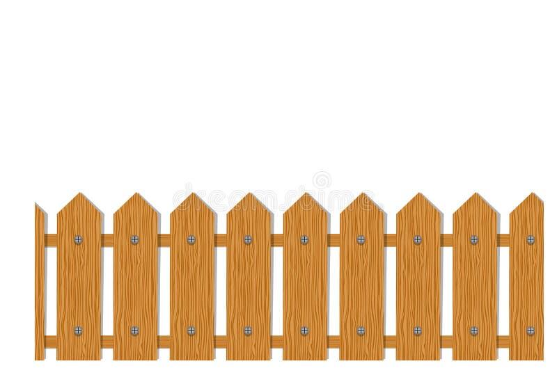 Houten omheining, naadloos patroon voor uw ontwerp royalty-vrije illustratie