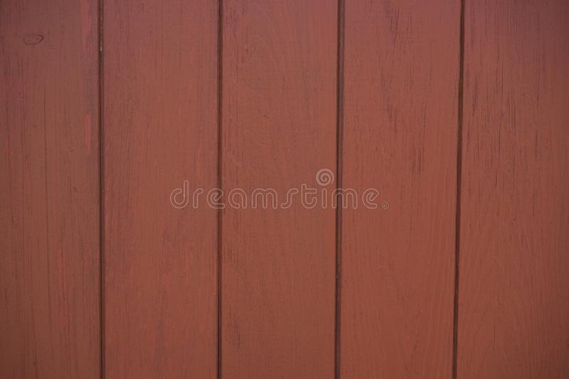 Houten Omheining Painted Red Brown stock foto