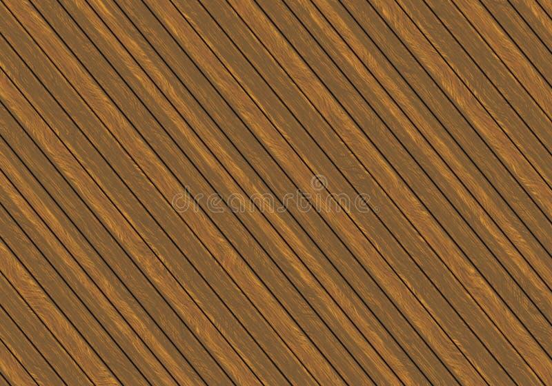 Houten omheining of vloerpatroon als achtergrond stock illustratie