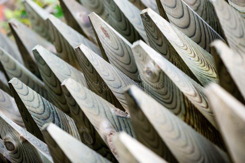 Houten omheiningsdetails en materialen royalty-vrije stock afbeeldingen
