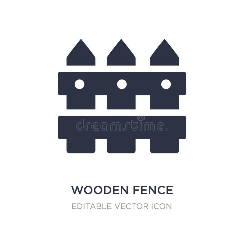 houten omheiningspictogram op witte achtergrond Eenvoudige elementenillustratie van Algemeen concept stock illustratie