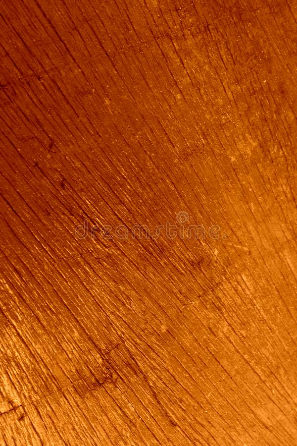 Houten oppervlakte, geschilderde amberhoningskleur Olieverf stock fotografie