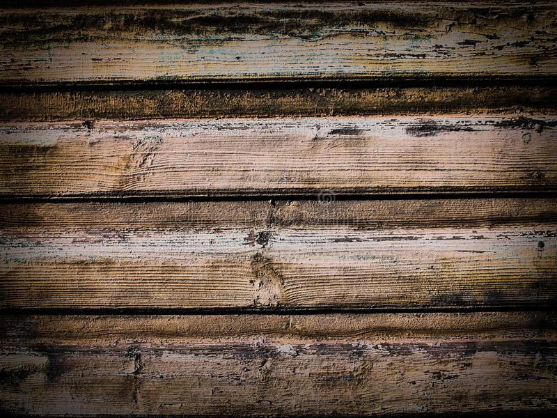 Houten oppervlakte van oude sjofele planken stock afbeelding