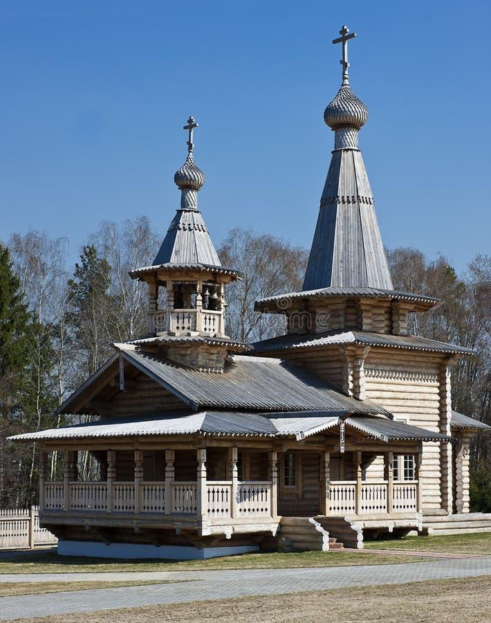 Houten Orthodoxe Kerk. royalty-vrije stock foto's