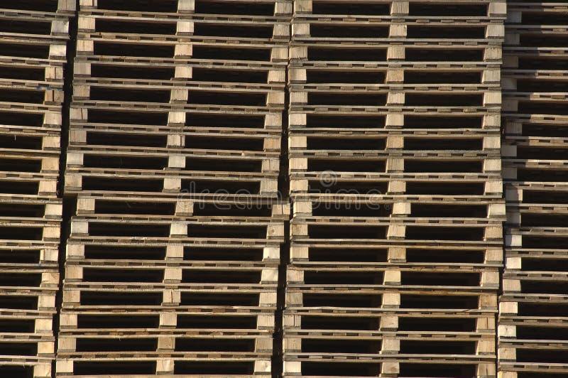 Houten pallets royalty-vrije stock afbeeldingen