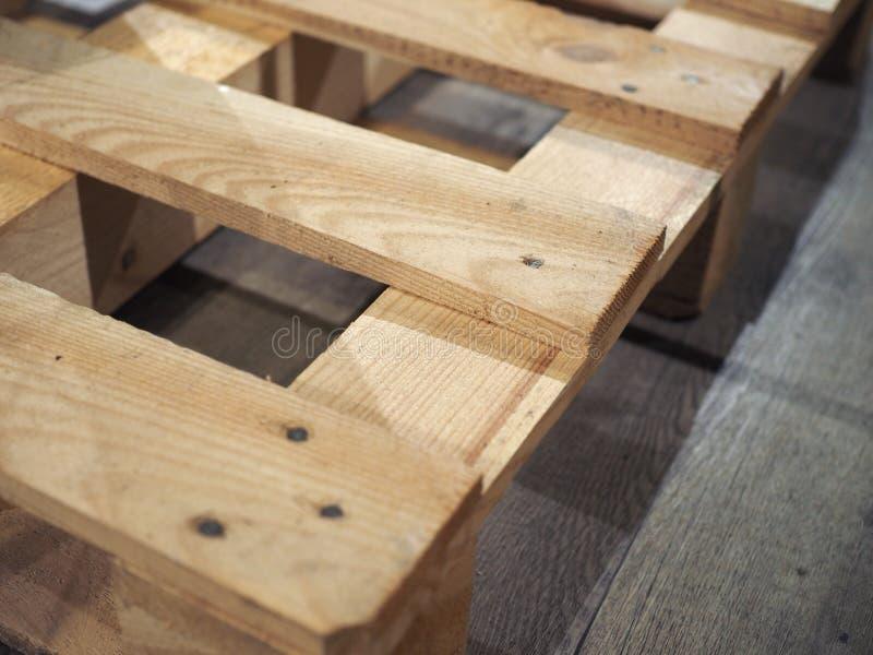 houten palletsteunbalk stock fotografie