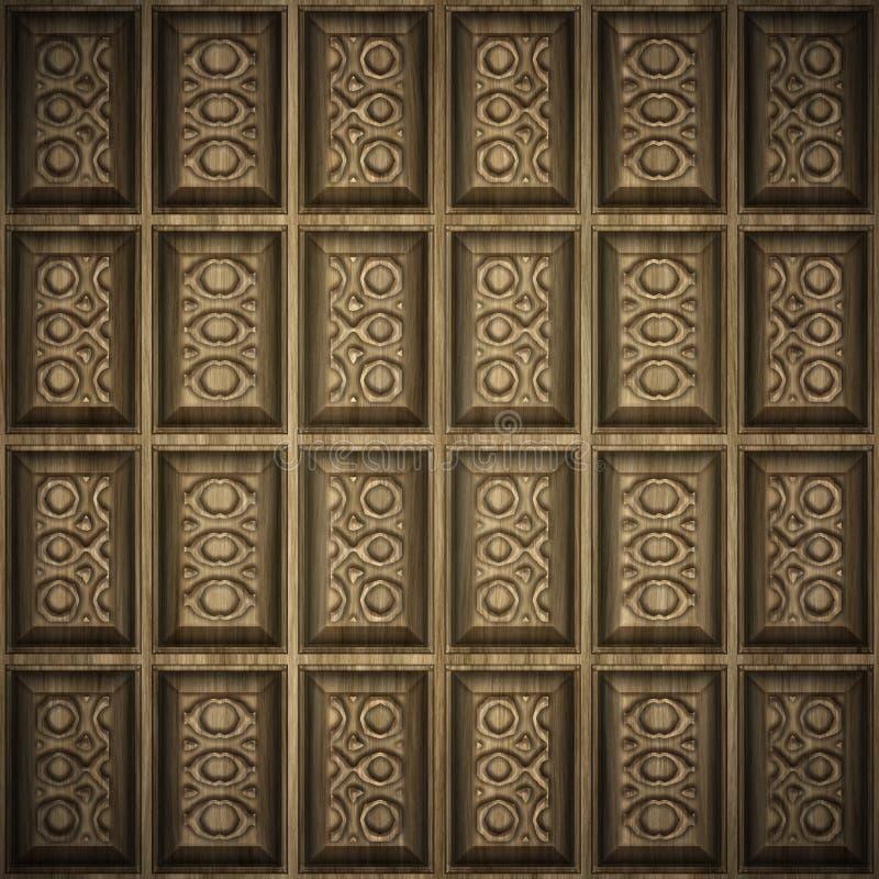 Houten panelen stock illustratie