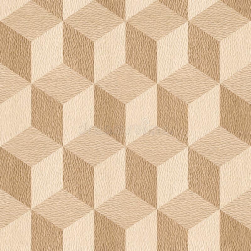 Houten parketblokken - naadloze achtergrond - Wit Eiken hout royalty-vrije illustratie
