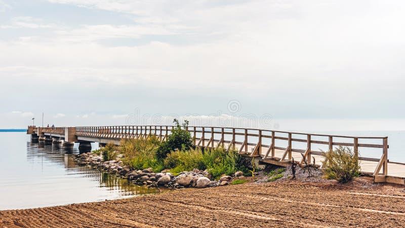 Houten pijler in Kalmar royalty-vrije stock fotografie