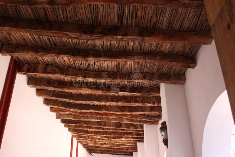 Houten plafond in kapel royalty-vrije stock foto