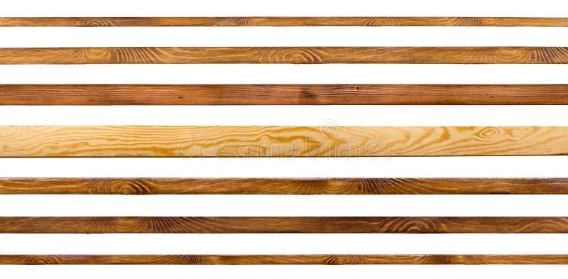 Houten planken die op wit worden geïsoleerd. royalty-vrije stock foto