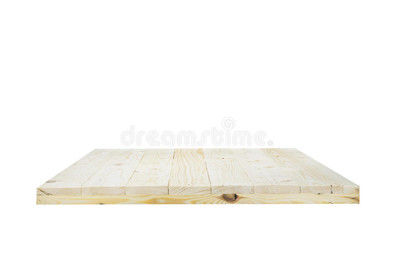 Houten planken die op witte achtergrond met het knippen van wegen worden geïsoleerd stock afbeelding
