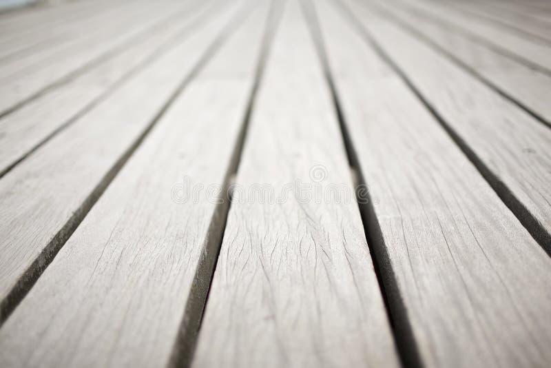 Houten planken op de Pijler van Bournemouth in het UK royalty-vrije stock afbeelding
