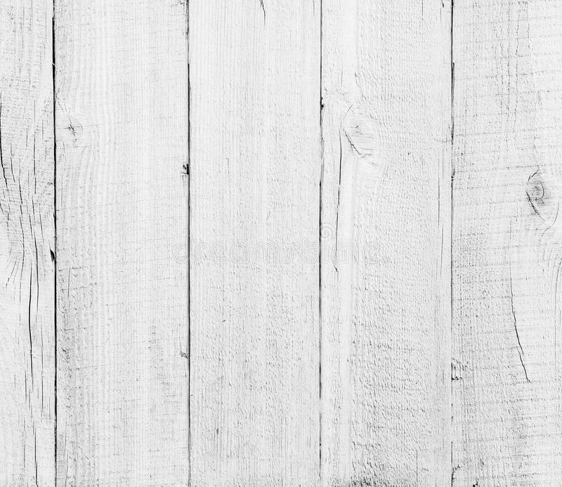 Houten planken witte geweven achtergrond stock foto's