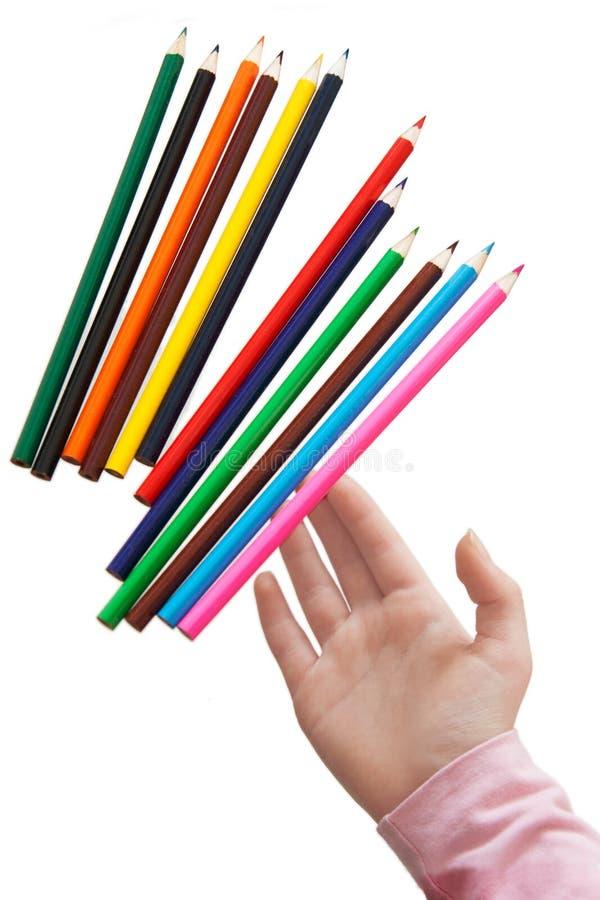 Houten potloden royalty-vrije stock afbeeldingen