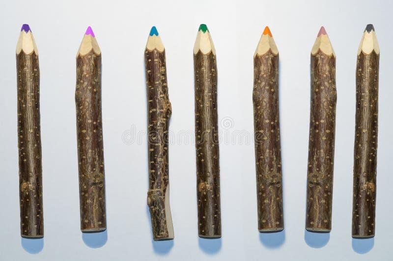 Houten potlood royalty-vrije stock afbeelding