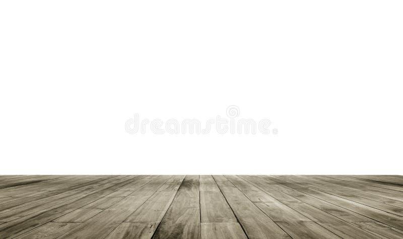 Houten raads lege lijst voor isolate witte achtergrond Perspectief bruin hout over witte achtergrond royalty-vrije stock foto's