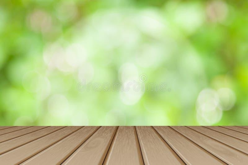 Houten raads lege lijst voor vage achtergrond Perspec stock foto's