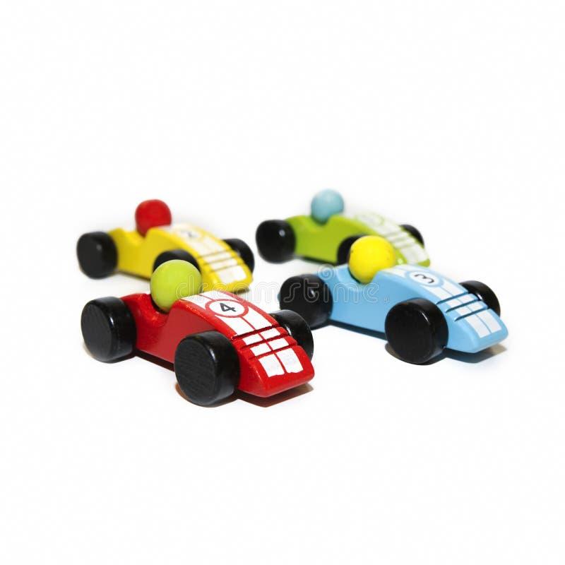 Houten Raceauto's stock foto