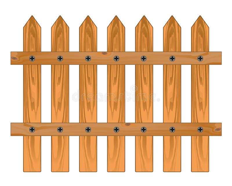 Houten scherpe omheining stock illustratie