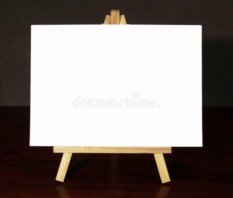 Houten Schildersezel met Wit Canvas royalty-vrije stock afbeeldingen