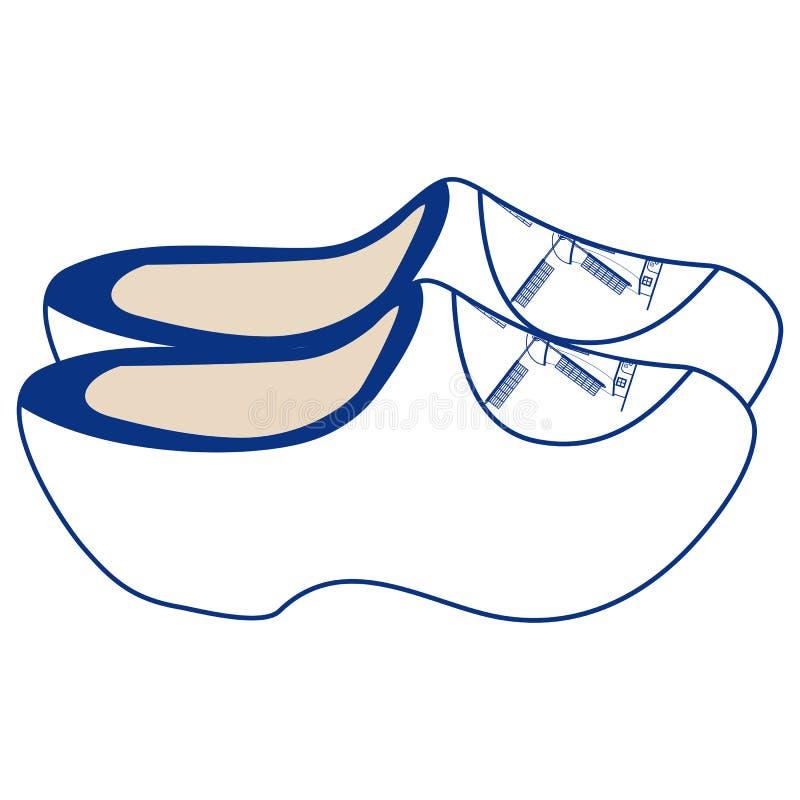Houten schoenen vector illustratie