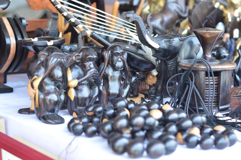 Houten sculpture stock afbeeldingen