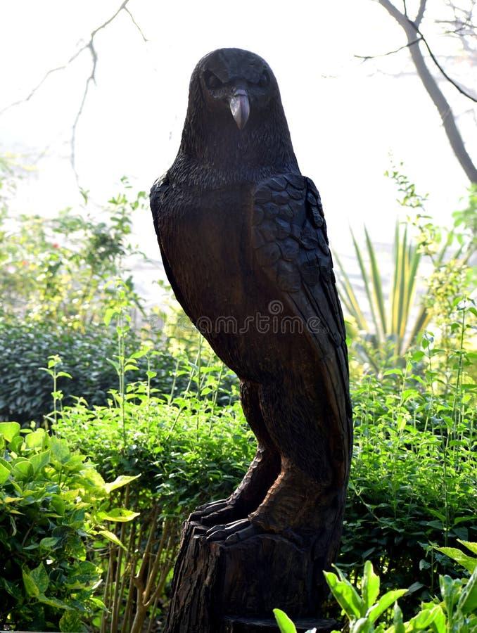 Houten standbeeld van Eagle royalty-vrije stock foto