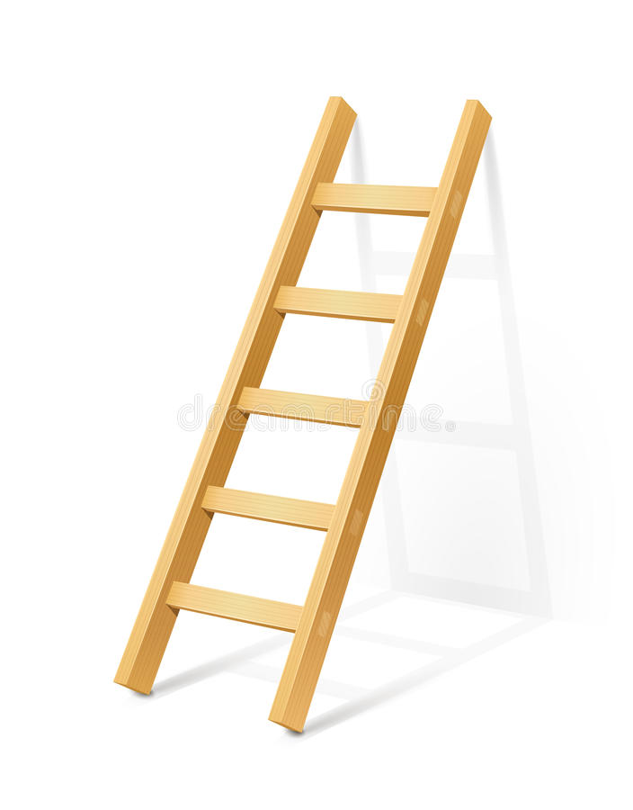 Houten stapladder stock illustratie