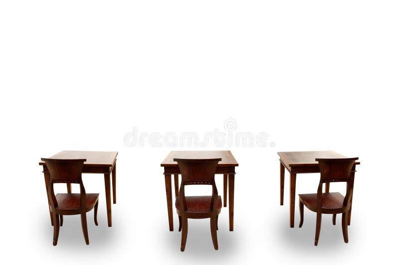 Download Houten stoel en lijst stock afbeelding. Afbeelding bestaande uit nostalgia - 29511963