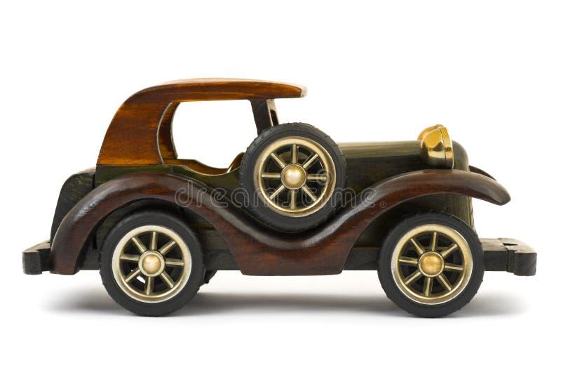 Houten stuk speelgoed auto