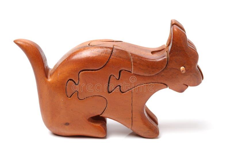 Houten tangram raadsel bij hond shap royalty-vrije stock afbeeldingen