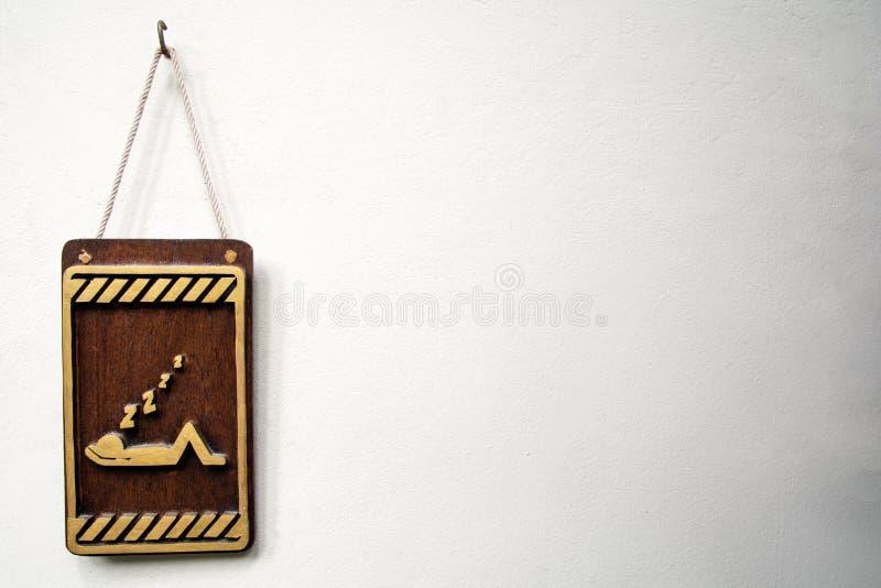 Houten ` te storen gelieve `-geen Teken stock afbeelding