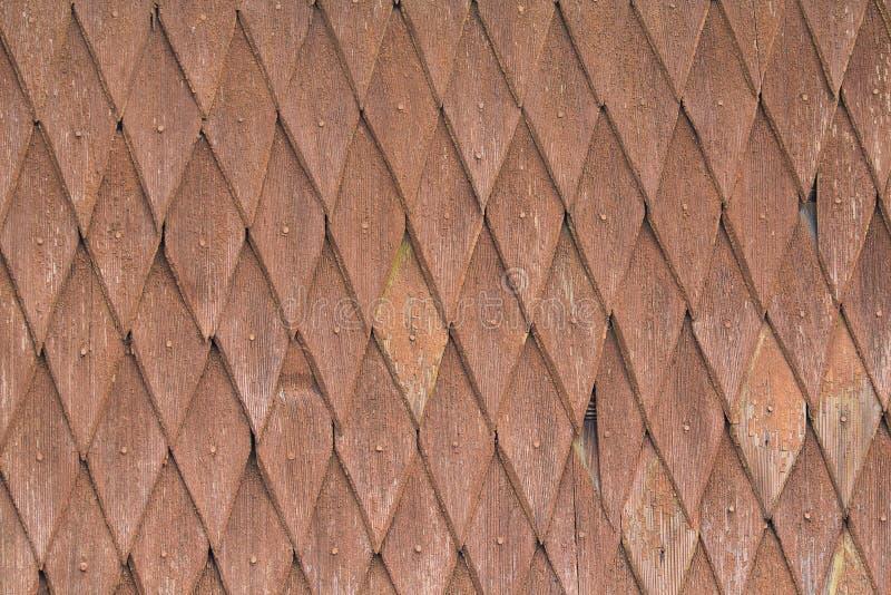 Houten tegels met elementen in de vorm van ruiten royalty-vrije stock foto