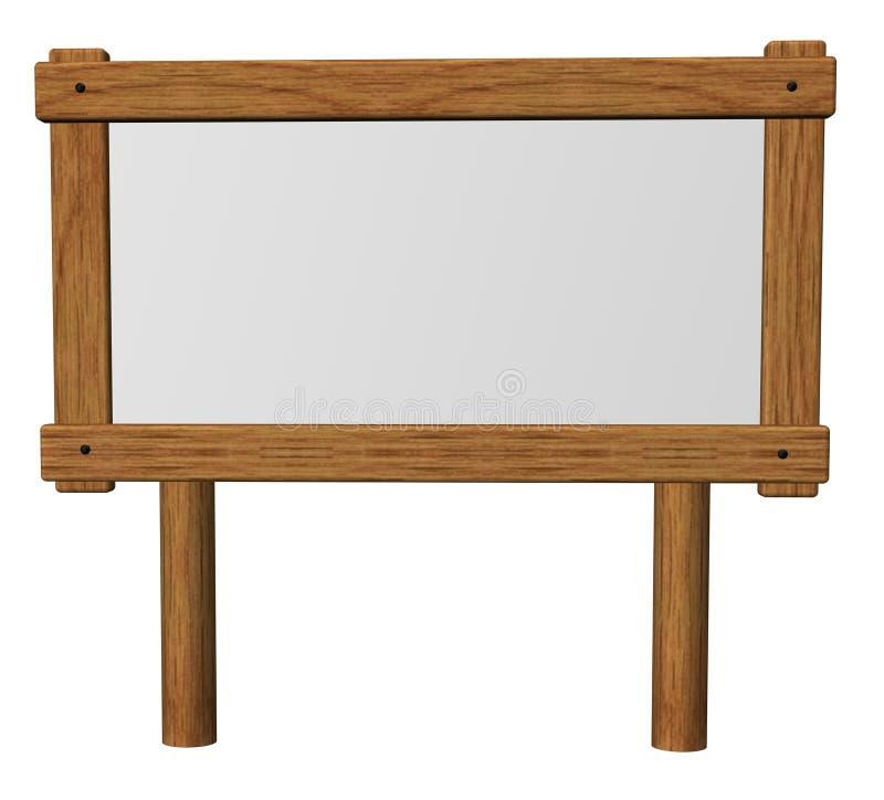 Houten teken stock illustratie