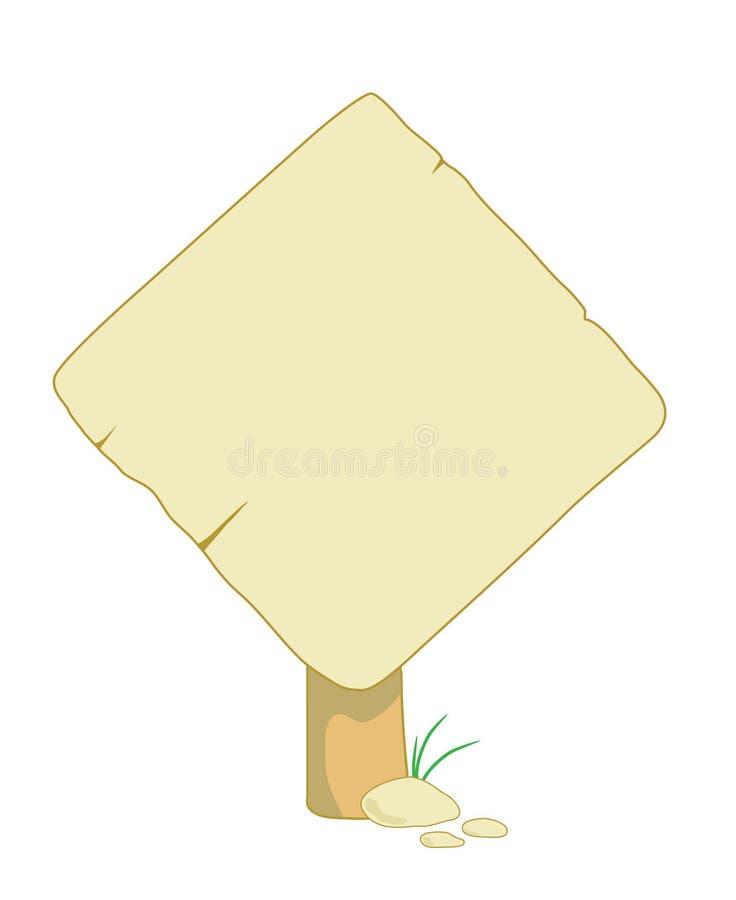 Houten teken voor informatie stock illustratie