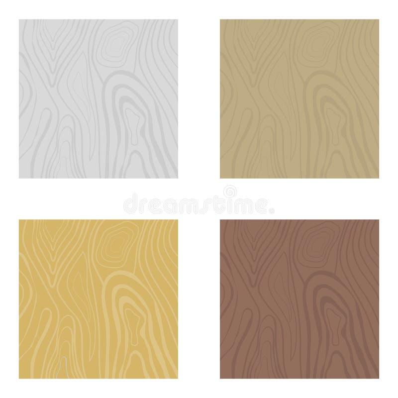 Houten texturen, een reeks realistische houten texturen Dwarsdoorsnede van de boom vector illustratie