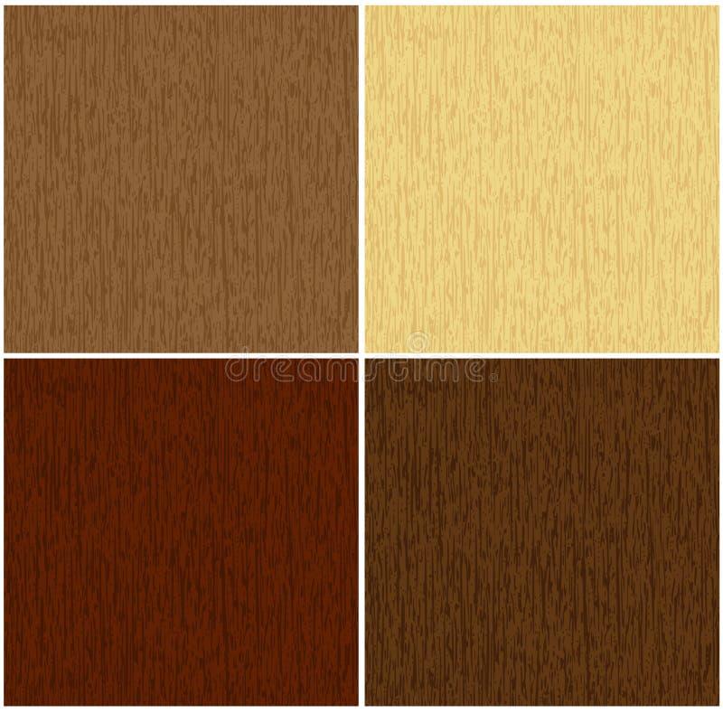 Houten textuur in 4 kleuren stock illustratie